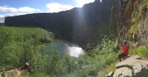 Asbyrgi cliffs islanda
